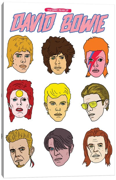 Faces Of Bowie Canvas Art Print