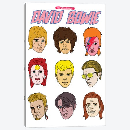 Faces Of Bowie Canvas Print #CZA17} by Nick Cocozza Art Print