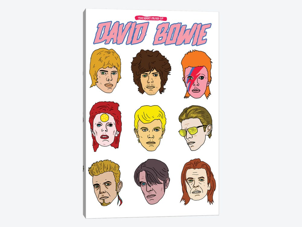 Faces Of Bowie by Nick Cocozza 1-piece Art Print