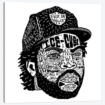 Ice Cube Canvas Print #CZA21} by Nick Cocozza Art Print