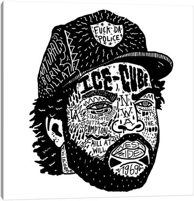 Ice Cube Canvas Art Print