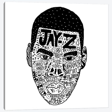 Jay-Z Canvas Print #CZA22} by Nick Cocozza Canvas Print