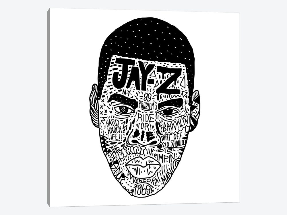 Jay-Z by Nick Cocozza 1-piece Canvas Print