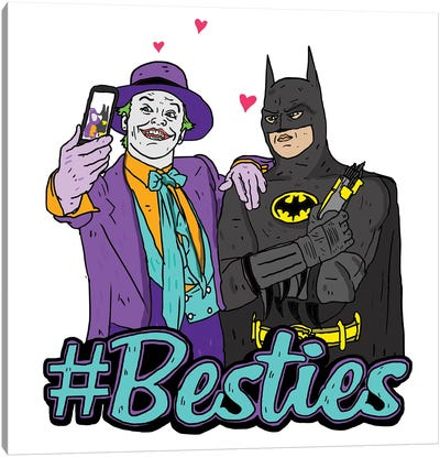 Joker & Batman Besties Canvas Art Print