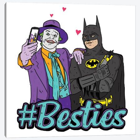 Joker & Batman Besties Canvas Print #CZA24} by Nick Cocozza Canvas Artwork