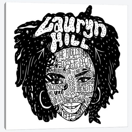 Lauryn Hill Canvas Print #CZA26} by Nick Cocozza Canvas Artwork