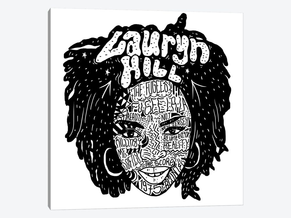 Lauryn Hill by Nick Cocozza 1-piece Canvas Print