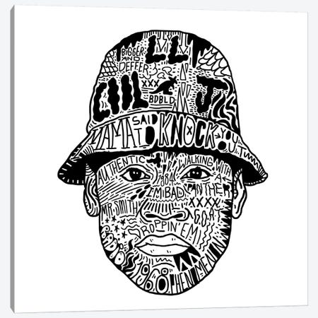 LL Cool J Canvas Print #CZA27} by Nick Cocozza Canvas Wall Art