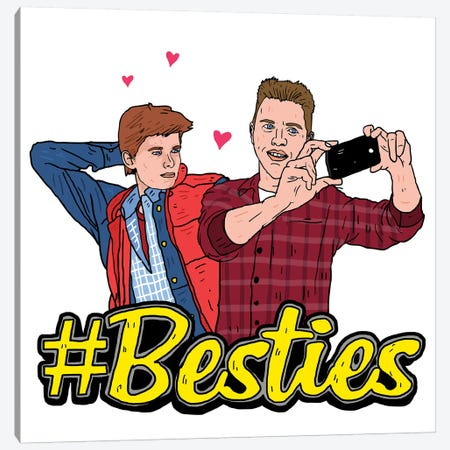 Marty & Biff Besties Canvas Print #CZA29} by Nick Cocozza Art Print