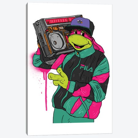 90's Turtle 3-Piece Canvas #CZA2} by Nick Cocozza Canvas Wall Art