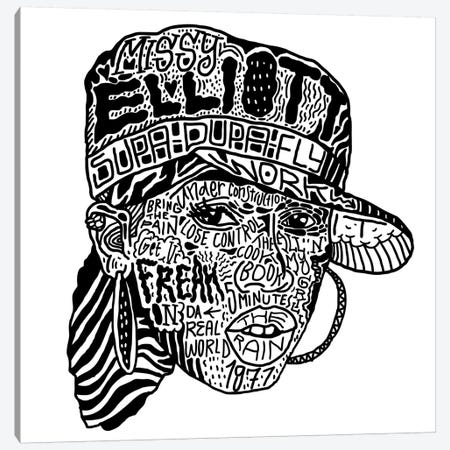 Missy Elliott Canvas Print #CZA30} by Nick Cocozza Canvas Artwork
