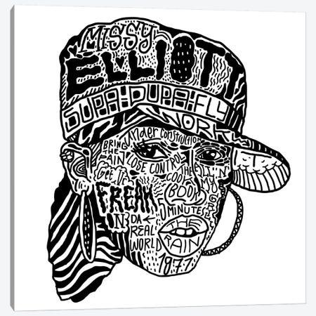 Missy Elliott Canvas Print #CZA30} by Nick Cocozza Canvas Artwork