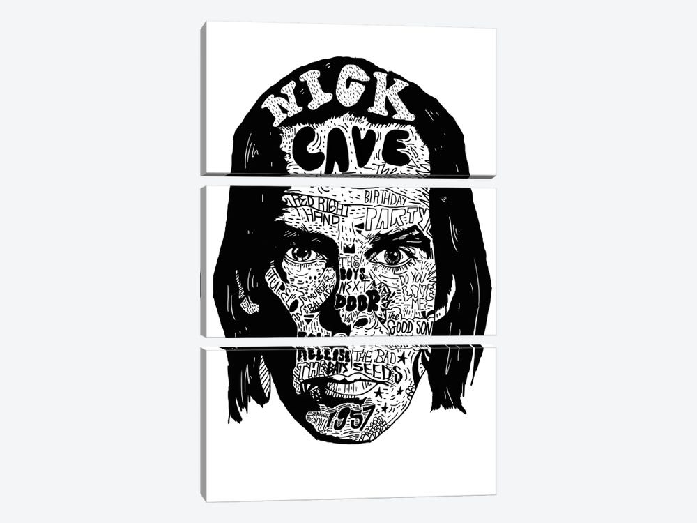 Nick Cave by Nick Cocozza 3-piece Canvas Wall Art