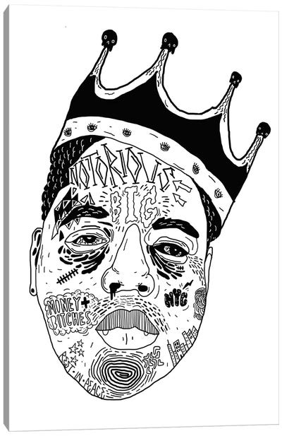Notorious Canvas Art Print