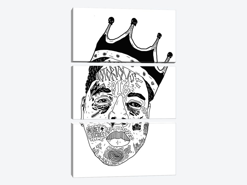 Notorious by Nick Cocozza 3-piece Canvas Art Print