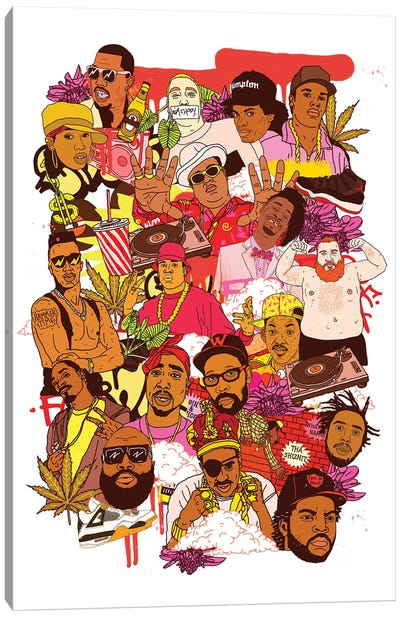 Rap Legends Canvas Art Print