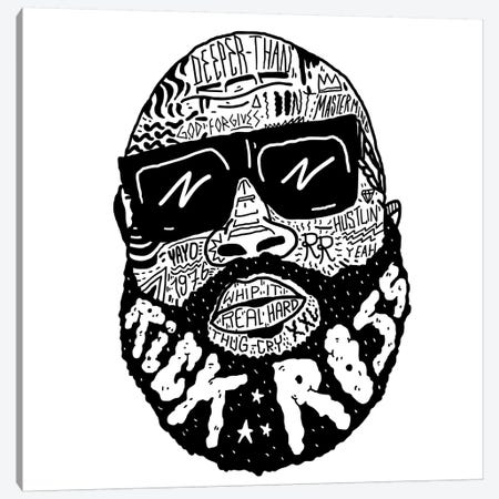 Rick Ross Canvas Print #CZA39} by Nick Cocozza Canvas Wall Art