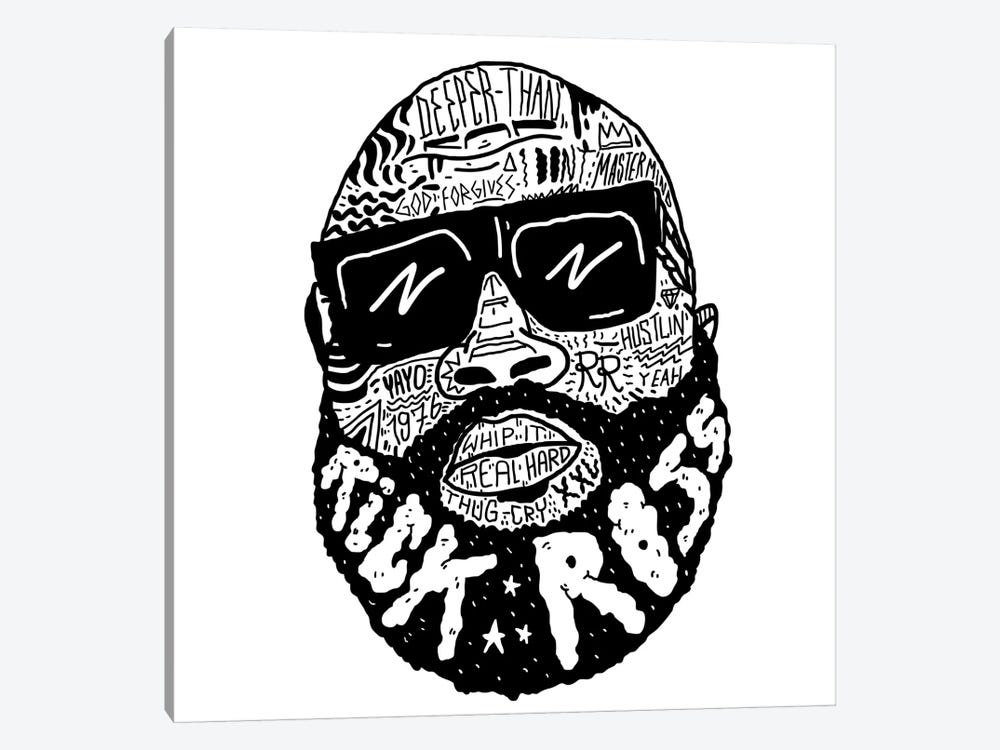 Rick Ross by Nick Cocozza 1-piece Canvas Print
