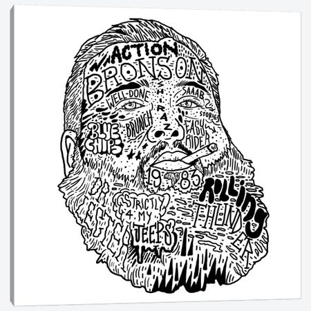Action Bronson Canvas Print #CZA3} by Nick Cocozza Canvas Wall Art