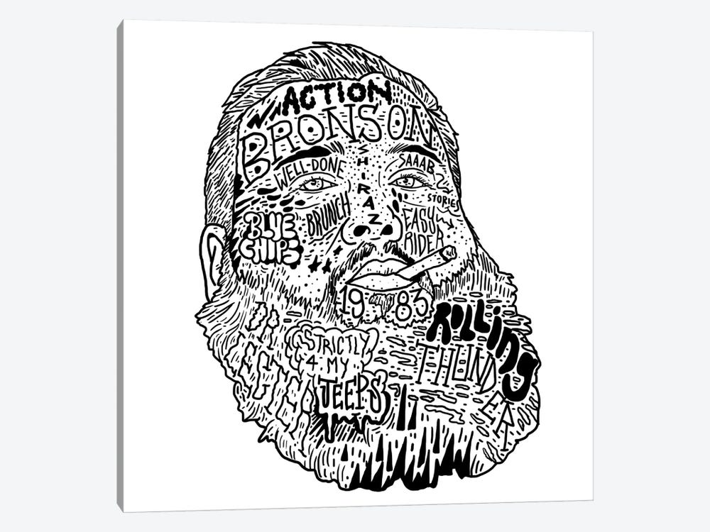 Action Bronson by Nick Cocozza 1-piece Canvas Wall Art