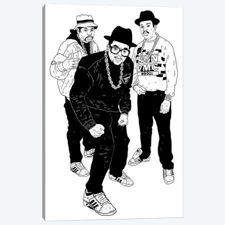 Run DMC Canvas Print #CZA41} by Nick Cocozza Art Print