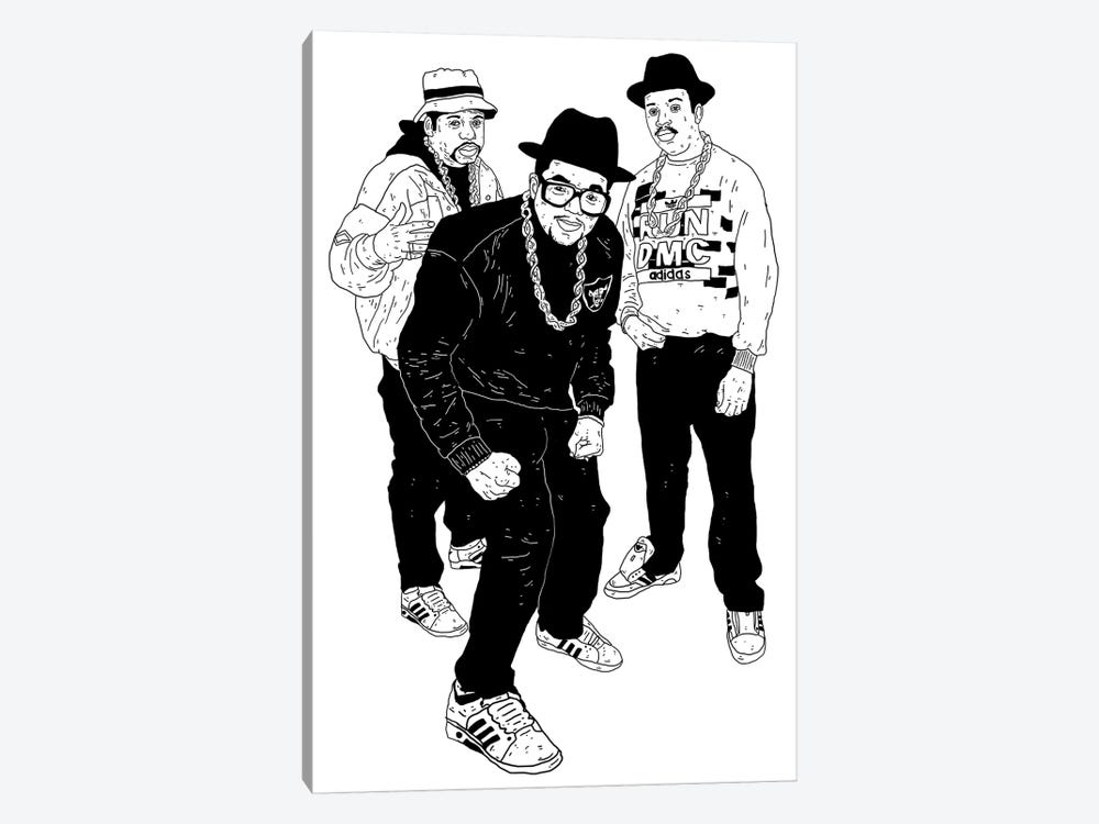 Run DMC by Nick Cocozza 1-piece Canvas Wall Art