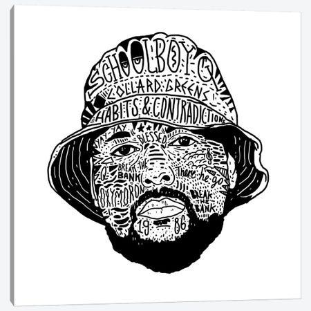 Schoolboy Q Canvas Print #CZA42} by Nick Cocozza Canvas Art Print
