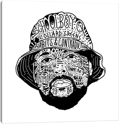 Schoolboy Q Canvas Art Print