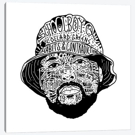 Schoolboy Q Canvas Print #CZA42} by Nick Cocozza Canvas Art Print