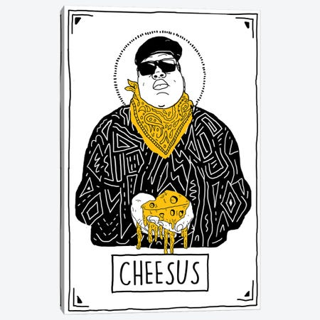 Cheesus Canvas Print #CZA47} by Nick Cocozza Canvas Art