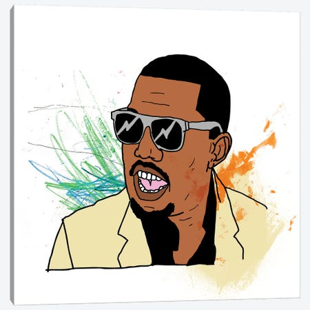Kanye Canvas Print #CZA48} by Nick Cocozza Art Print