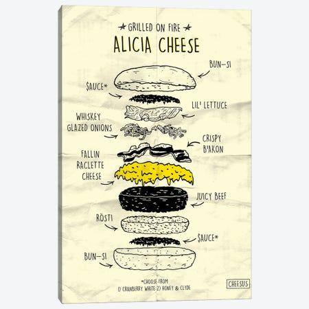 Alicia Cheese 3-Piece Canvas #CZA4} by Nick Cocozza Canvas Art Print