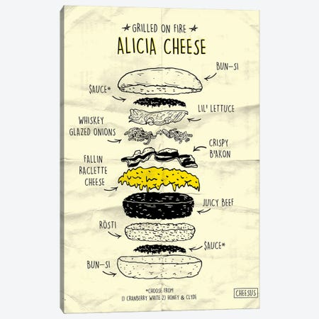 Alicia Cheese Canvas Print #CZA4} by Nick Cocozza Canvas Art Print