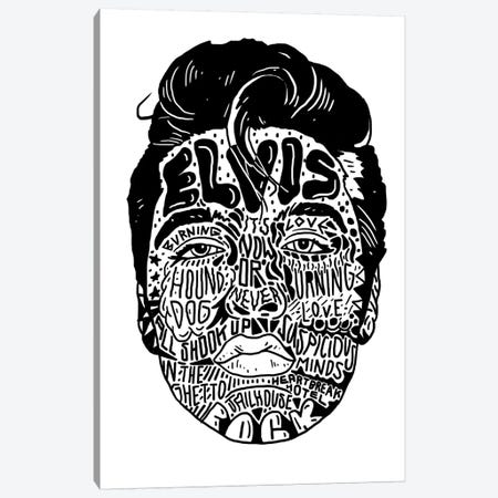 Elvis Canvas Print #CZA53} by Nick Cocozza Canvas Art