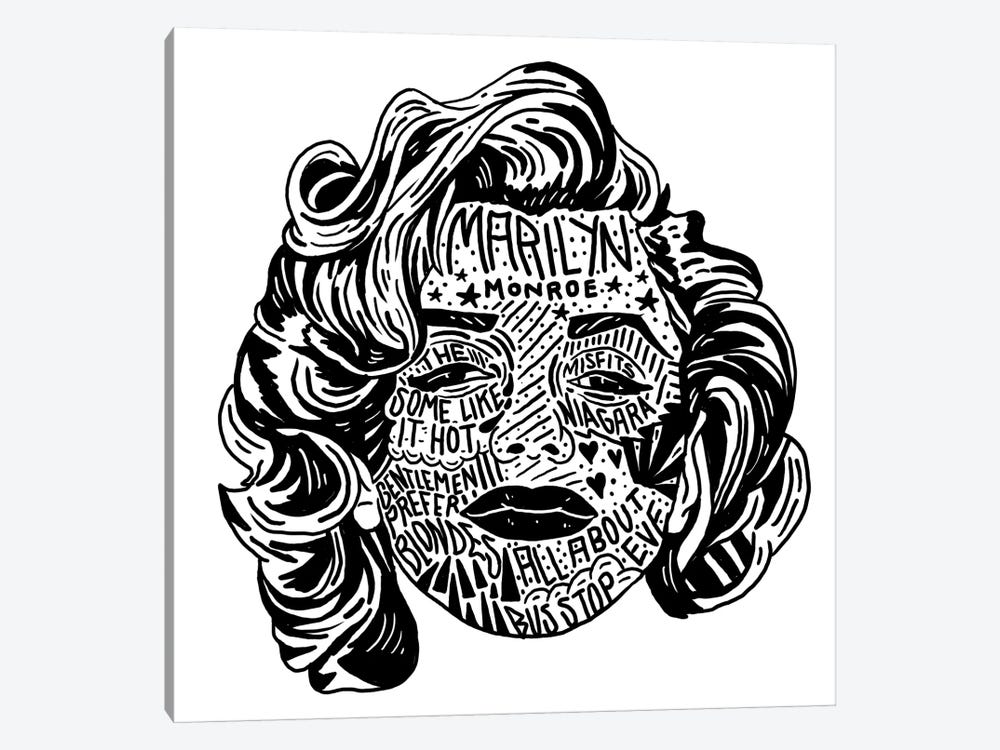 Marilyn by Nick Cocozza 1-piece Art Print