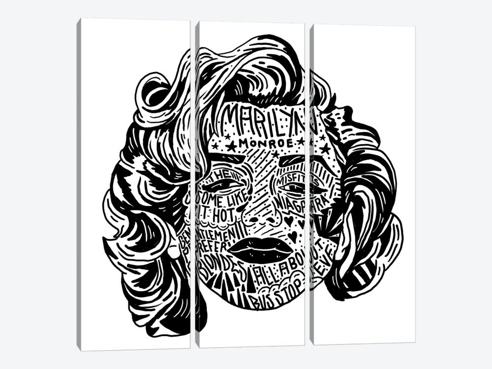 Marilyn by Nick Cocozza 3-piece Canvas Print