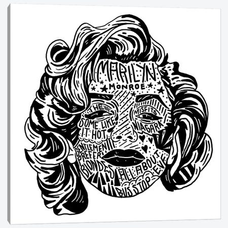 Marilyn Canvas Print #CZA55} by Nick Cocozza Art Print