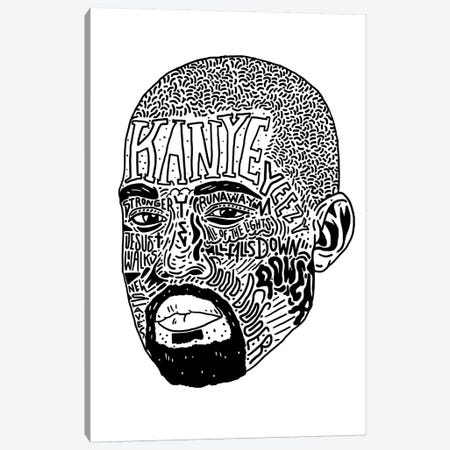 Kanye II Canvas Print #CZA60} by Nick Cocozza Art Print