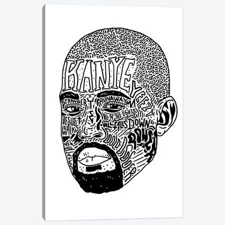 Kanye II Canvas Print #CZA60} by Nick Cocozza Art Print