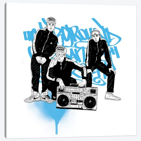 Beastie Boys Canvas Print #CZA6} by Nick Cocozza Art Print