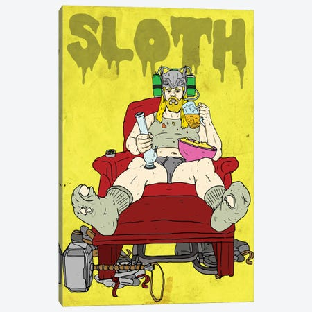 Sloth Canvas Print #CZA90} by Nick Cocozza Canvas Art