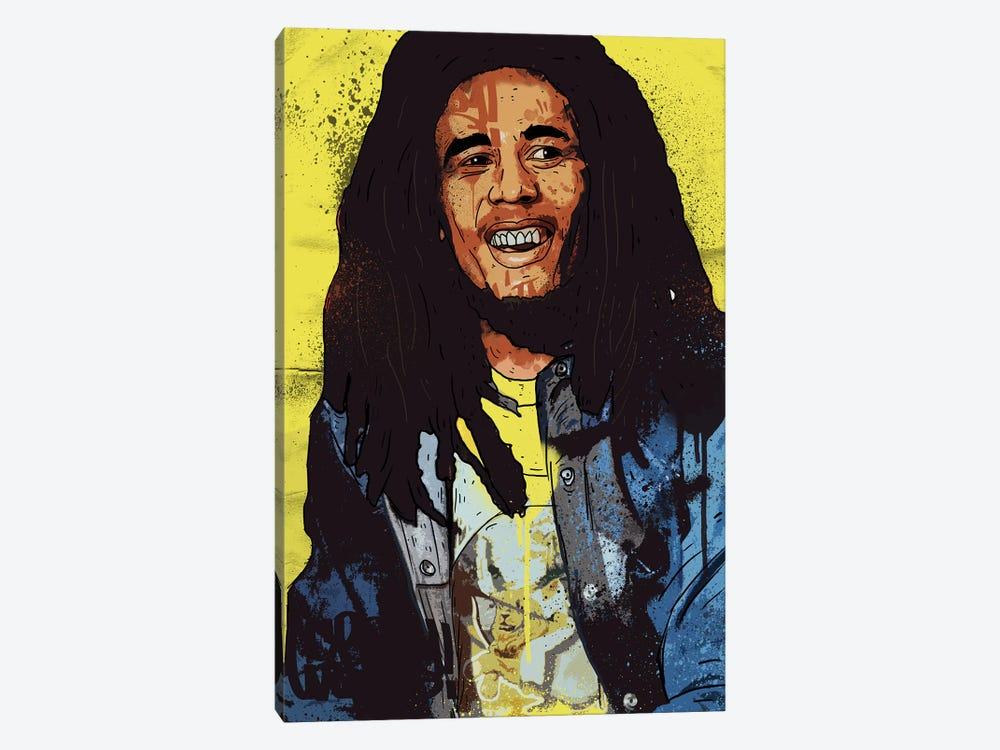Bob Marley by Nick Cocozza 1-piece Canvas Wall Art