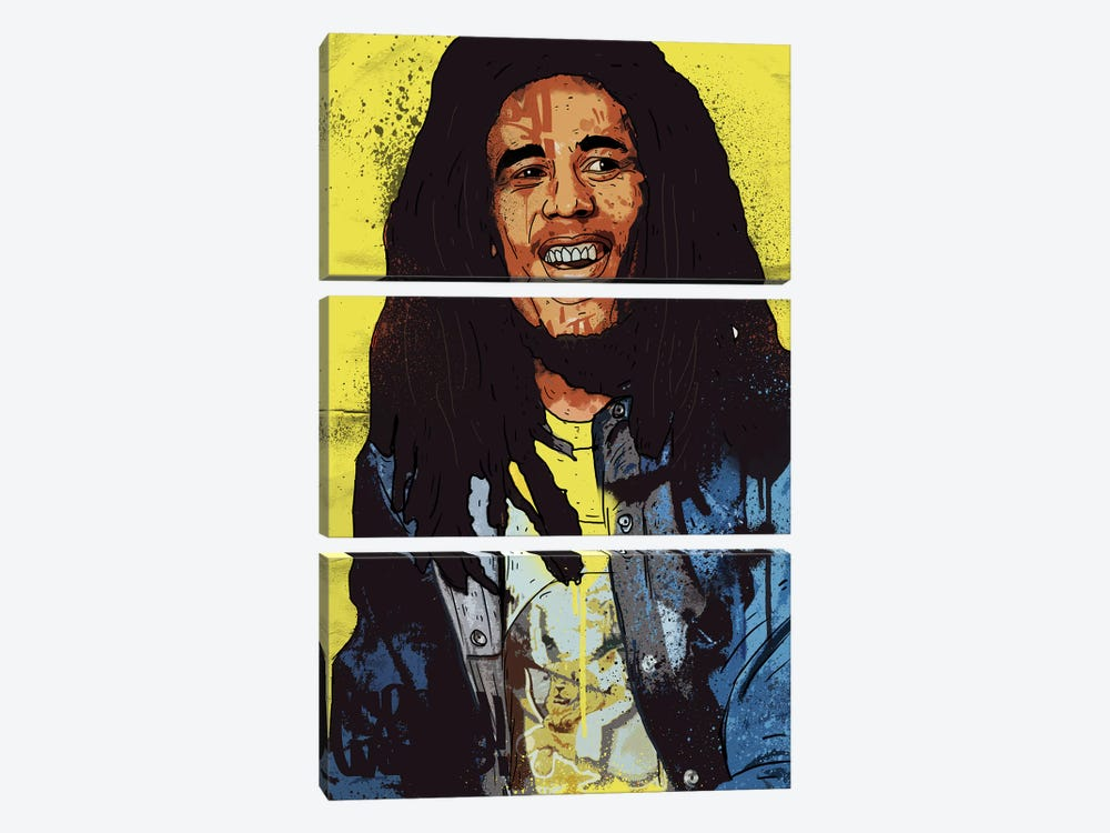 Bob Marley by Nick Cocozza 3-piece Canvas Wall Art