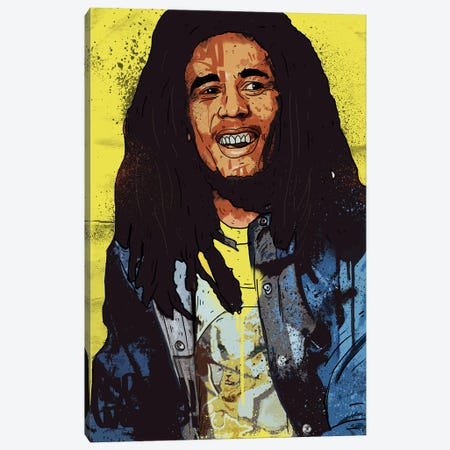 Bob Marley Canvas Print #CZA9} by Nick Cocozza Canvas Wall Art