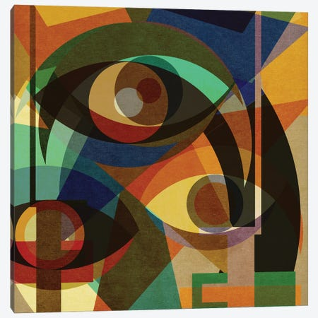 Space Shapes III Canvas Print #CZC104} by Czar Catstick Canvas Wall Art