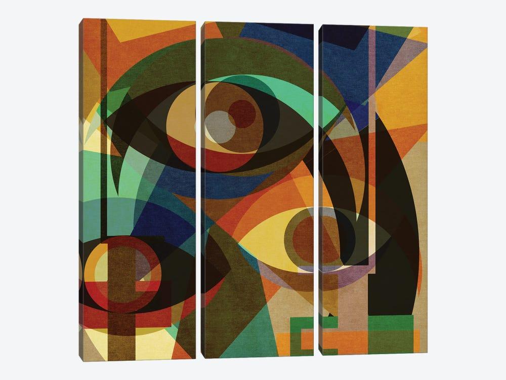 Space Shapes III by Czar Catstick 3-piece Canvas Art