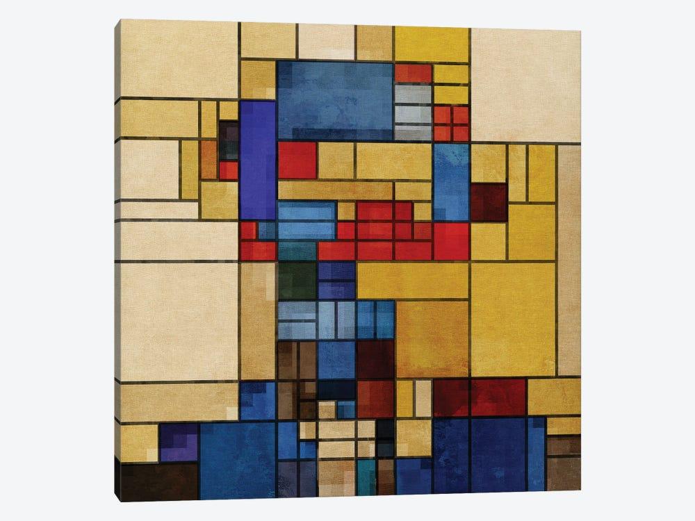 Square Piet by Czar Catstick 1-piece Canvas Art
