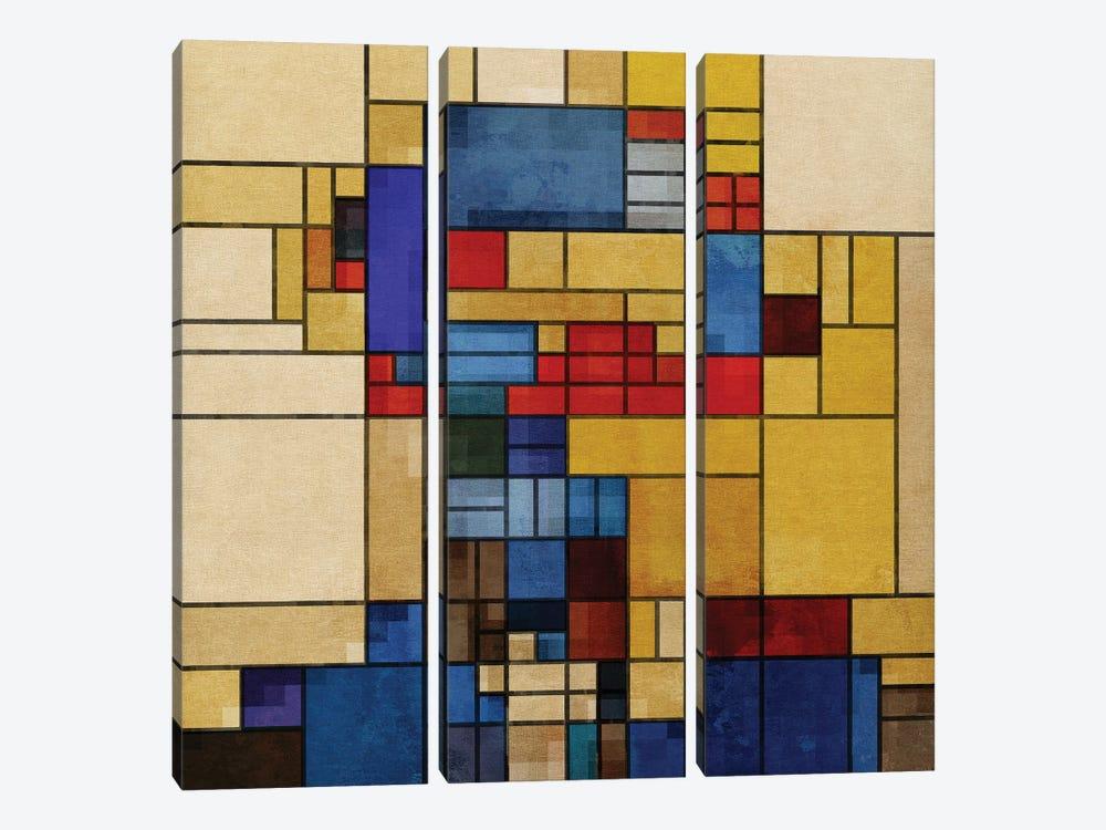 Square Piet by Czar Catstick 3-piece Canvas Art