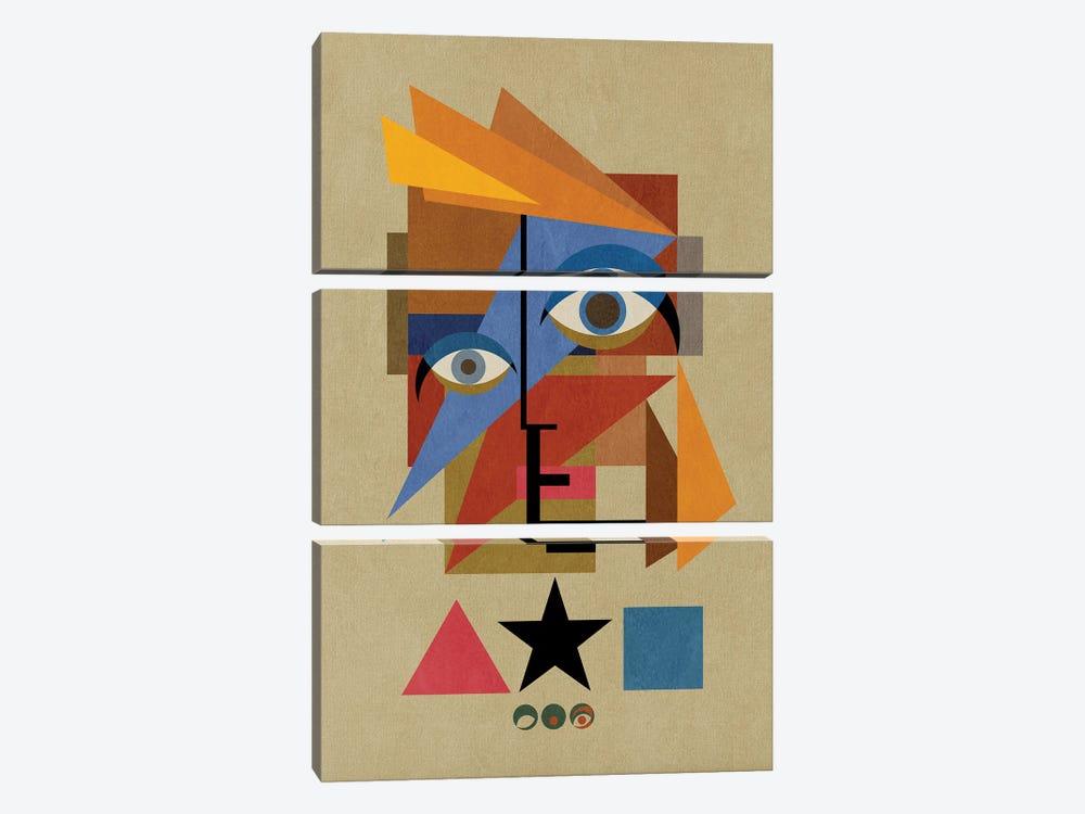 Bauwie Bauhaus IV by Czar Catstick 3-piece Canvas Print