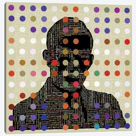 Turing Code Canvas Print #CZC113} by Czar Catstick Canvas Art